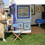 My neighbor Cheryl & her booth