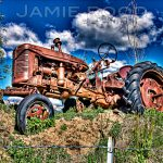 Tractor on a Ridge